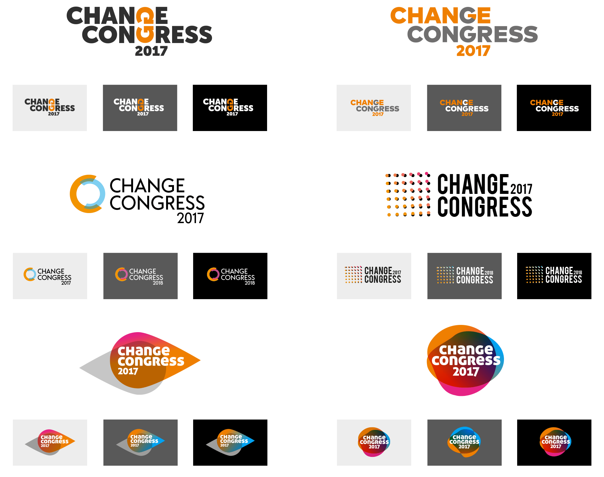 Change Congress 2017 Logo-Alternativen
