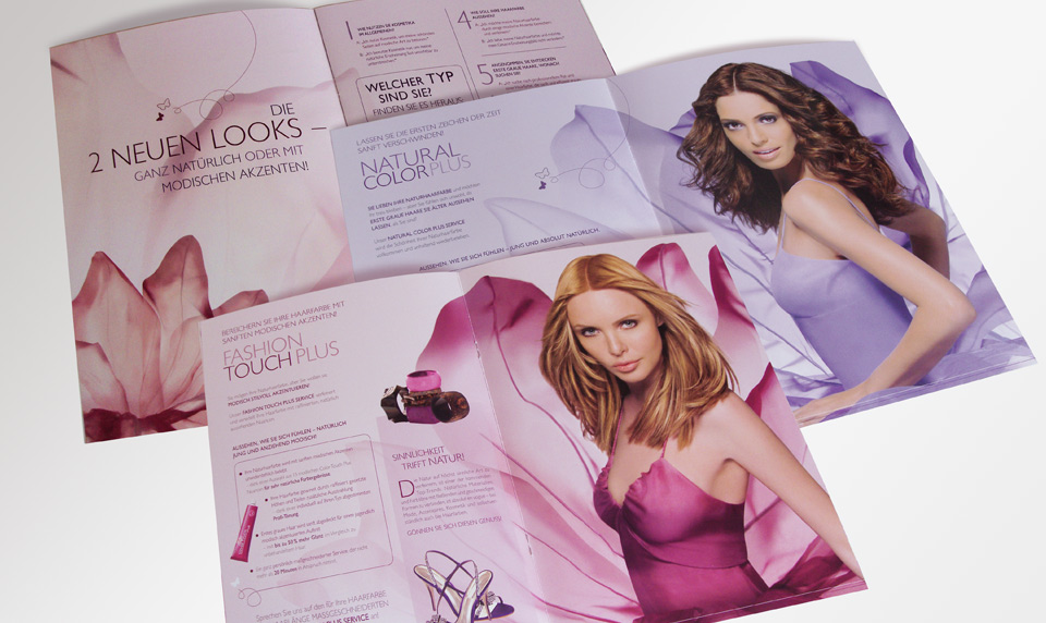 Wella Anzeigen Poster Salesfolder Technikfolder Lookbook